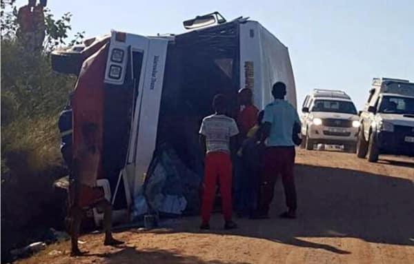 40 injured in Sundumbili bus crash
