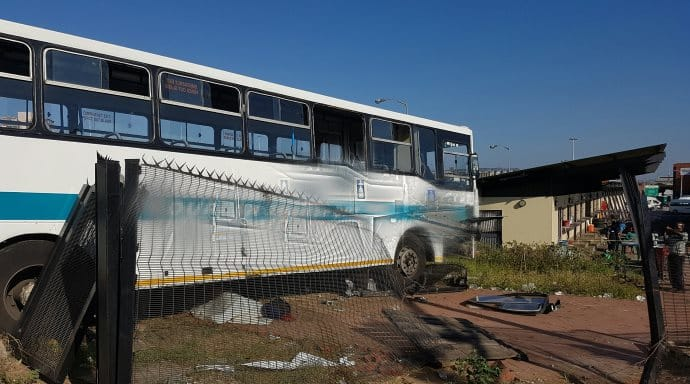 Durban CBD Bus and delivery truck collision kills 2 injuring 30