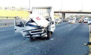 ONE MAN DIES IN TRUCK CRASH