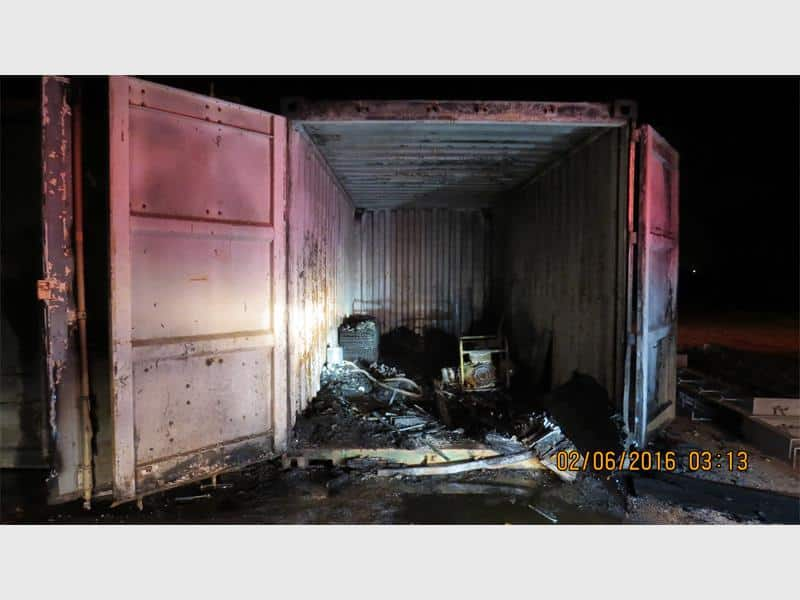 Two burn to death in container in Pomona