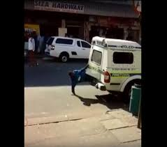 Viral Video of suspects escaping from police van