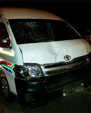 Motorists block taxi driver who hit jogger
