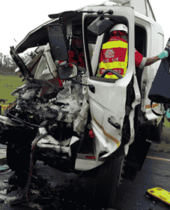N4 west closed after truck driver killed in crash