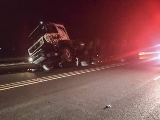 MAN KILLED IN TRUCK VS CAR CRASH ON THE N2