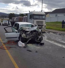 Truck and car head-on collision kills two on Langerberg rd