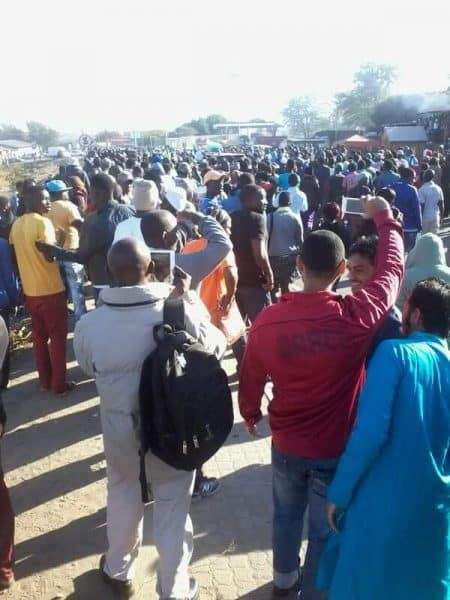 Beitbridge Border protests SA side in pictures as it happens