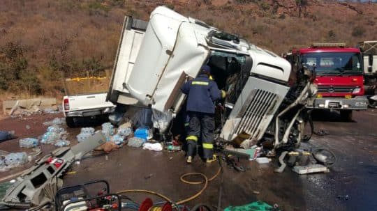 TRUCK DRIVER KILLED, ANOTHER SERIOUSLY INJURED IN A TWO TRUCK COLLISION