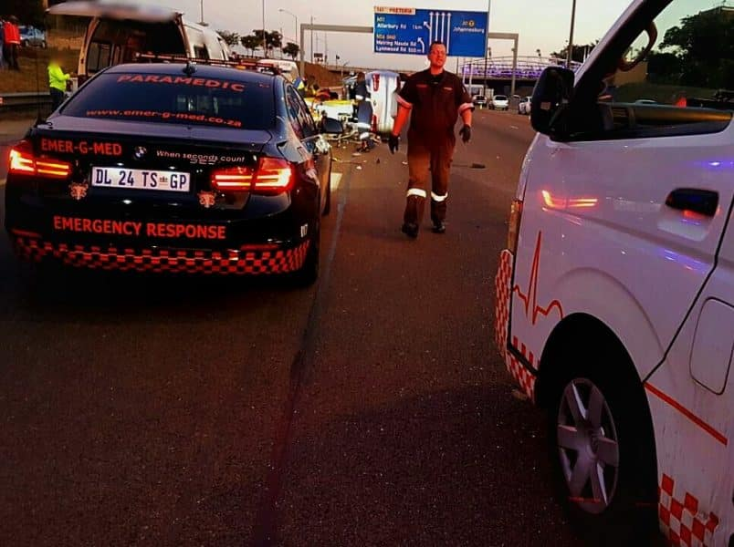 Truck and 2 car pile up claims a life and 2 seriously injured