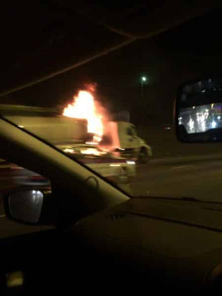 PICS: TANKER CATCHES FIRE ON THE N1 FREEWAY