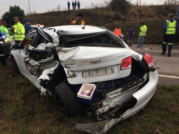 Multiple vehicle collision leaves four injured, Pietermaritzburg (1)