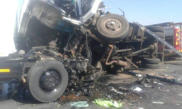 TWO TRUCK HEAD ON COLLISION LEAVES 5 SERIOUSLY INJURED