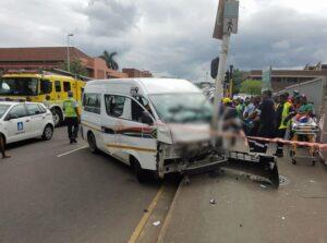 19 injured in Durban CBD taxi crash