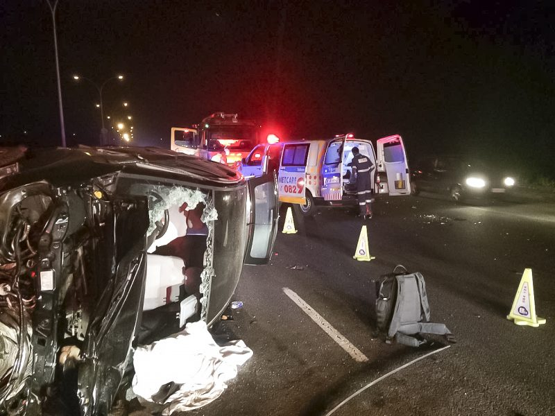 1 killed, 3 injured in N3 Marianhill Toll crash