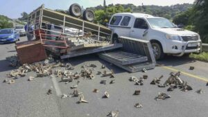 Two people injured in a collision on the N2 North opposite the old Amanzimtoti CBD
