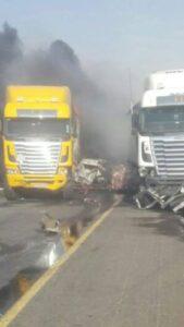 WATCH: Trucks Burn After Multi-Vehicle Crash On N3 Near Petro Port