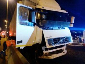Pics: Truck Driver Flees Jo'burg Fatal Accident Scene