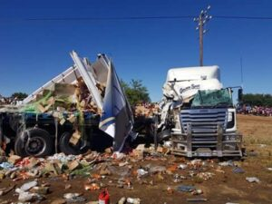 PICS: Two truck drivers killed in N6 head-on collision