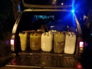 Pics: Stolen Diesel Recovered After High-Speed Chase in Durban