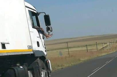 reckless truck driver