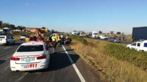PICS: Camperdown truck vs car crash leaves three injured