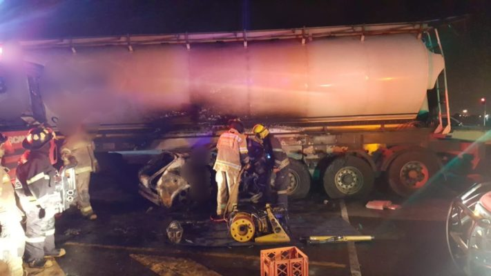 Three die in fiery crash with tanker in Germiston