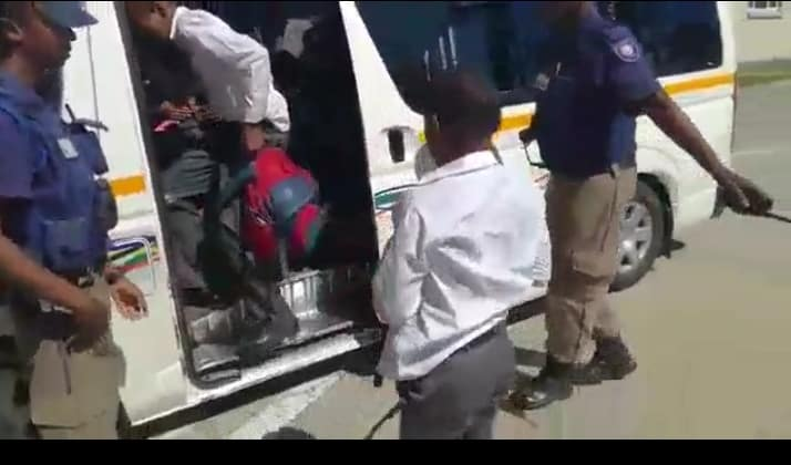 WATCH   Taxi caught with 48 people aboard