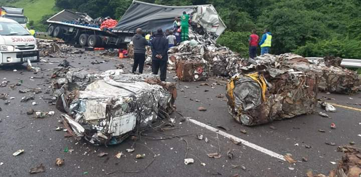 nace truck in fatal crash on n3 shongweni