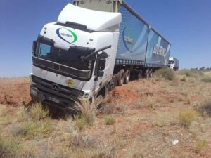 South African driver crashes truck after stealing load in Namibia