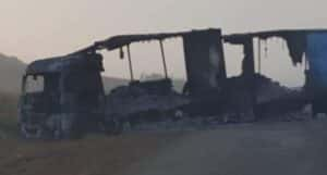 Trucks burnt and looted, driver injured in Free State