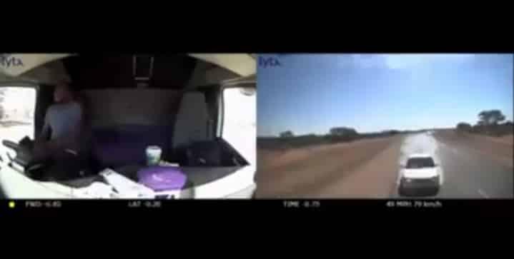 Watch | Truck and car head-on crash captured on dashcam