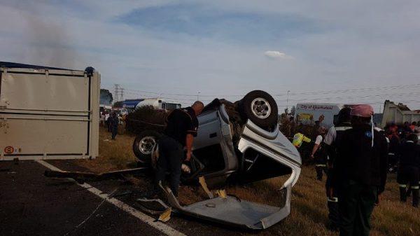 Watch | Nine dead in Vosloorus 4 truck and 4 car crash