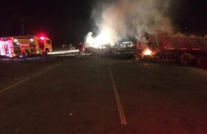 Four burn to death in KZN truck crash