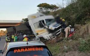 Pinetown truck crash leaves man seriously injured