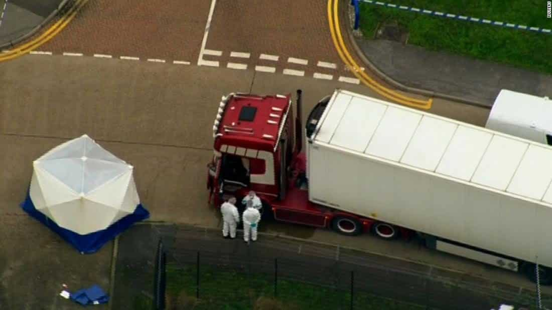 Trucker arrested after 39 bodies found in container