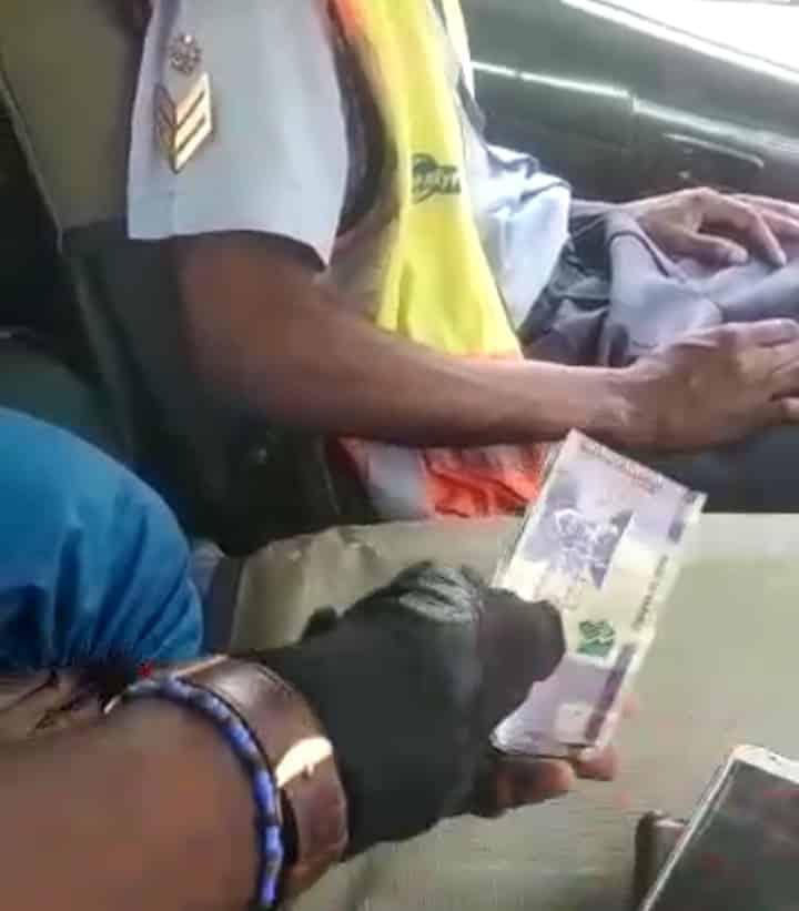Watch: Namibian traffic cop filmed receiving bribe, gets arrested
