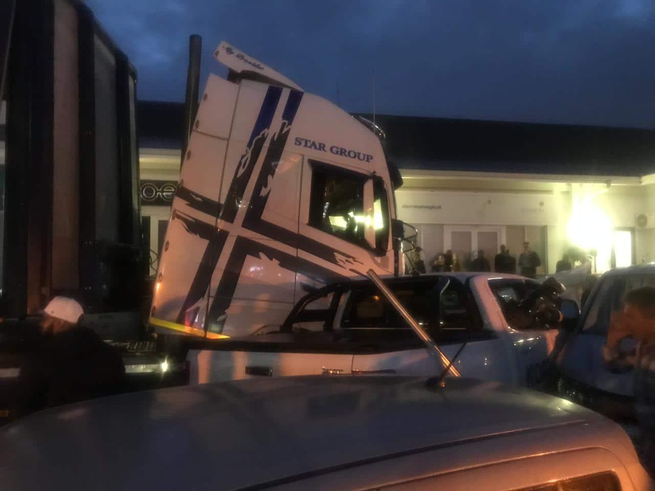 Watch: Hair rising video of truck crashing 20 cars at a KZN mall