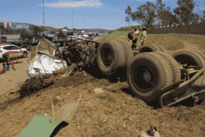 Trucker killed, another injured after 3 trucks collide in Ekurhuleni