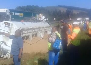Watch: Serious truck and car crash on N3 in KZN
