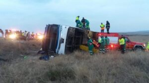 Five killed as a Greyhound bus crashes in KZN