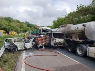 multi-vehicle crash on m7