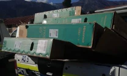 Nine suspects arrested for De Doorns truck looting, 53 TVs recovered