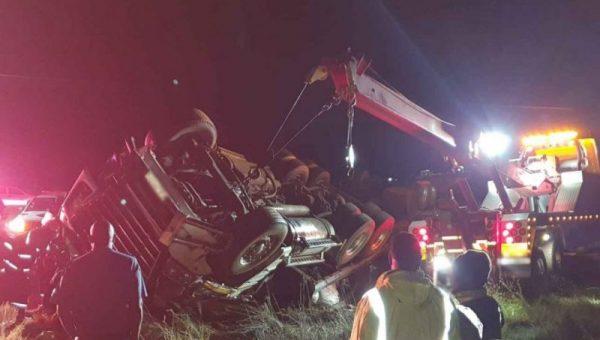 Truck driver injured in rollover crash on the R54 in Fochville