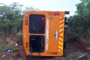 Two dead in Moloto road bus rollover crash