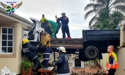 WATCH | Truck driver dies after crashing into Durban home