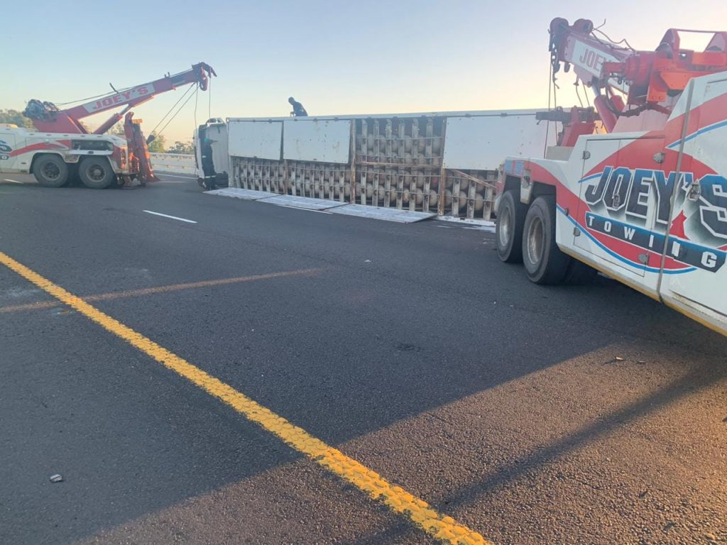 tanker being recovered after crashing on n2