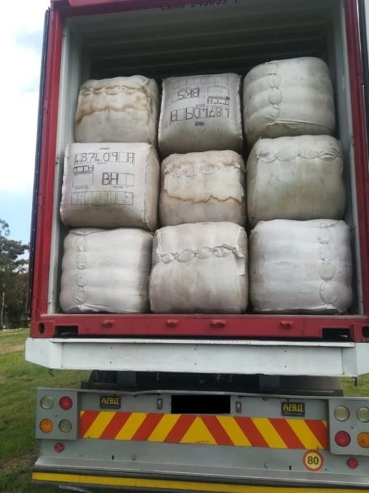 Truck driver caught smuggling with R8m worth wool into SA