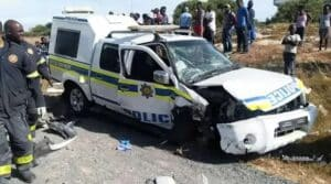Hijackers arrested after victim rams car into police van