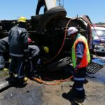 truck driver entrapped