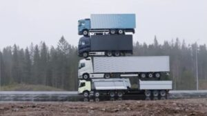 Watch: Volvo launches four new trucks by stacking them on top of each other