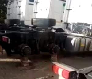 WATCH: Mercedes dealership hit second time around for truck tyres